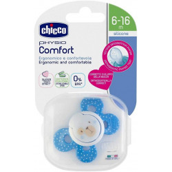 CHICCO SUCETTE PHYSIO COMFORT EN SILICONE 6-16 MOIS