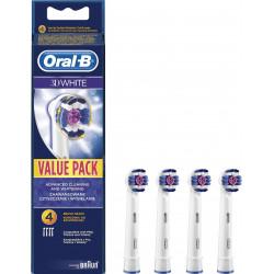 4 BROSSETTES WHITE ORAL-B EB 18