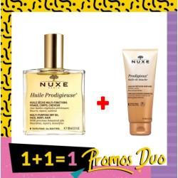 NUXE HUILE PRODIGIEUSE 100ML + NUXE PRODIGIEUX HUILE DE DOUCHE 100ML (GRATUIT)