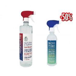 VERACOS SEPTACLEAN LOTION DESINFECTANT 1L + BACTI PROTECT LOTION DESINFECTANTE 500 ML (50%)