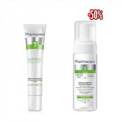 DUO PHARMACERIS T PURE RETINOLCREME DE NUIT 40ml + PHARMACERIS T MOUSSE NETTOYANTE 150 ML (-50%) Composé de :