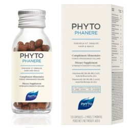 PHYTO Phytophanère Cheveux et Ongles, 120 capsules
