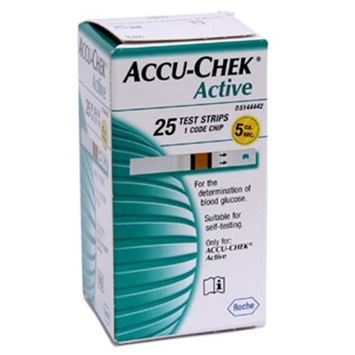 ACCU-CHEK Active BANDELETTES, 25 bandelettes
