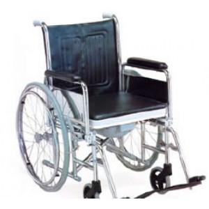 Chaise roulante avec pot