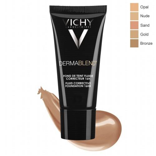 VICHY Dermablend Fond de Teint fluide correcteur 16h Teinte 25 Nude, 30ml