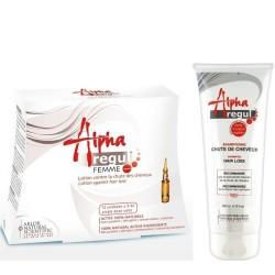 Pack Alpharegul : Lotion Femme 12*5 ml + Shampoing Anti-chute, 200ml
