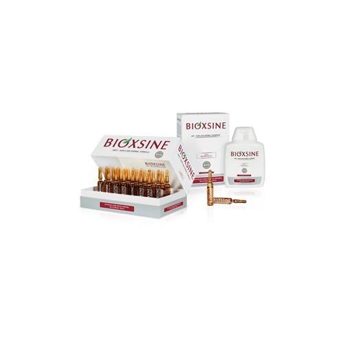 PACK Bioxsine: Sérum Anti-Chute 24x6ml + Shampooing Anti-Chute cheveux Normal à Sec
