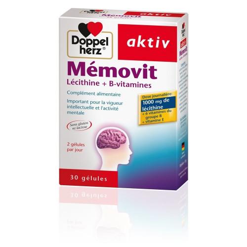 DOPPELHERZ AKTIV MEMOVIT Lécithine + B-vitamines, 30 Gélules
