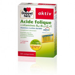 AKTIV ACIDE FOLIQUE VITAMINES B+C+E , 30 Comprimés