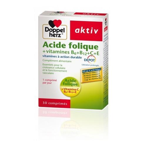 AKTIV ACIDE FOLIQUE VITAMINES B+C+E , 30 Comprimés