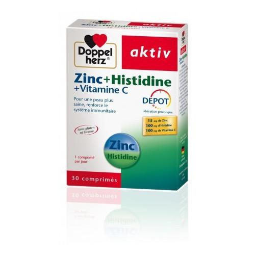 AKTIV ZINC+HISTIDINE+VITAMINE C, 30 Comprimés