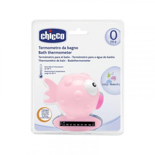 CHICCO thermomètre de bain rose fish