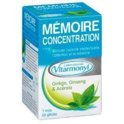 VITARMONYL MEMOIRE CONCENTRATION, 60 gélules