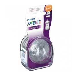 AVENT 2 NATURAL TETINES 6M+ /4T