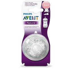 AVENT 2 NATURAL TETINES 3M+ / VARIABLES