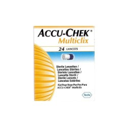 ACCU CHECK LANCETTES MULTICLIX BT/24