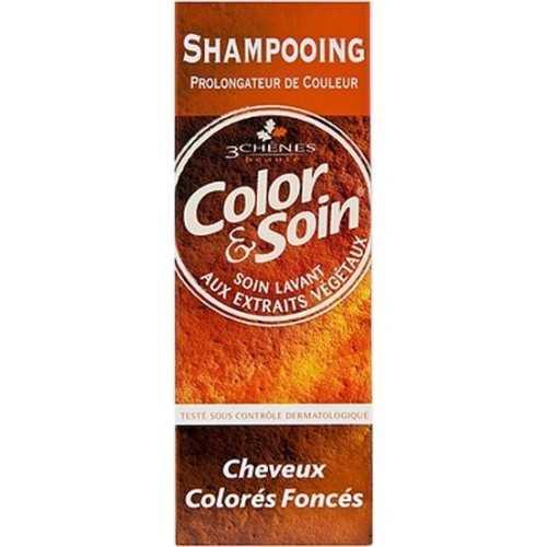 Color & Soin Shampoing Cheveux Colorés Foncés, 250 ml