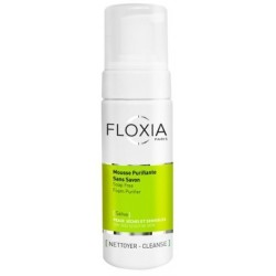 Floxia Sativa Mousse Nettoyante Purifiante Sans savon, 150 ml