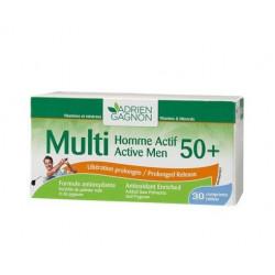 MULTI HOMME ACTIF 50+, 30 comprimes