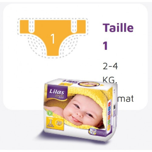 Lilas Couche BB 2-4 Kg Confort max actif pharmacie , 20 p