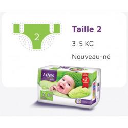 Lilas Couche BB 3-5 Kg Confort max actif pharmacie , 32 pièces