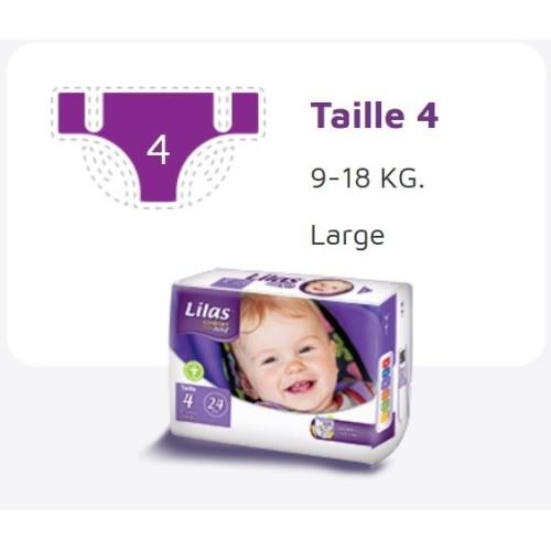 Lilas Couche BB 9-18 Kg Confort max actif pharmacie , 24 pièces