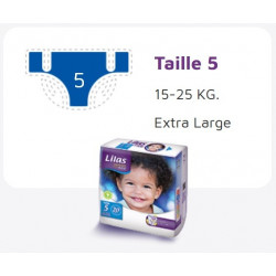 Lilas Couche BB 15-25 Kg Confort max actif pharmacie , 20 pièces