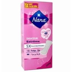 NANA Protège-Slips Long Douceur Extrême 18 unités