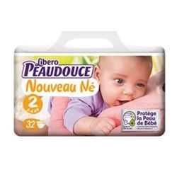 Peaudouce Confort 3-6 Kg Nouveau Né Taille 2 , 34 unités