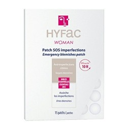 Hyfac women Patchs SOS anti-imperfections , 15 patchs