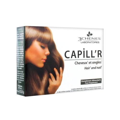 3 Chênes Capill'R Cheveux et Ongles, 30 Comprimés