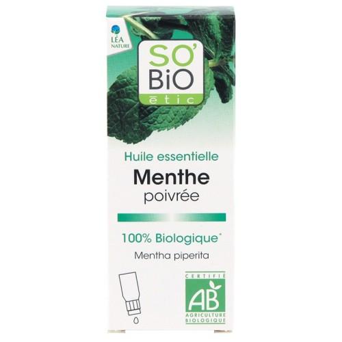 SO BIO Huile essentielle menthe poivrée Bio, 10 mL