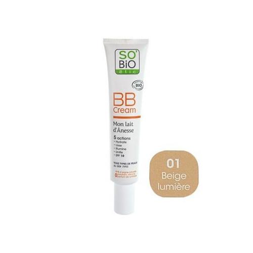 SO'BiO BB Cream - Mon Lait d'Ânesse (01), 40 ml