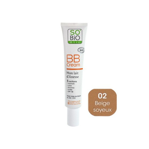 SO'BiO BB Cream - Mon Lait d'Ânesse (01), 40 ml