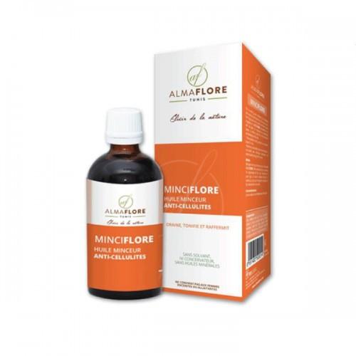 ALMAFLORE Huile de massage amaincissante anti cellulite, 50ML