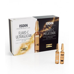 ISDINCEUTICS FLAVO-C DAY & NIGHT - 2x10 ampoules de 2ml