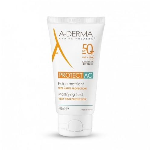 A-DERMA Protect AC Fluide matifiant SPF50+, 40 ml