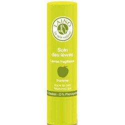 LAINO Soin des lèvres fragilisées goût pomme, 4g