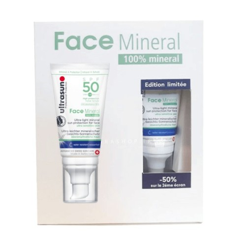 ULTRASUN COFFRET 2 FACE MINERAL SPF50 -50%