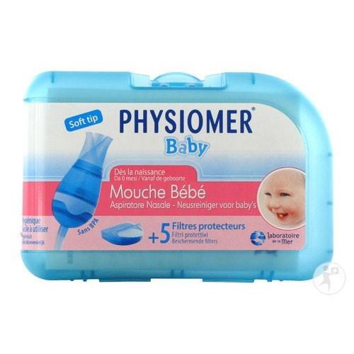Physiomer Mouche Bébé avec embout et 5 filtres jetables