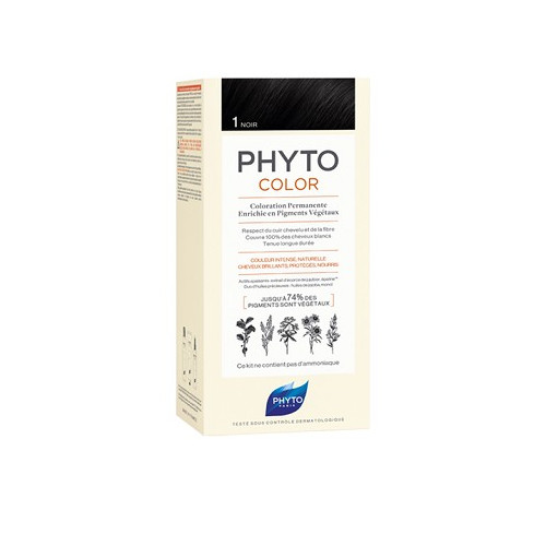 PHYTO Phytocolor couleur soin 1 Noir, 1 kit