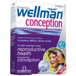 Vitabiotics Wellman Conception, 30 Comprimés