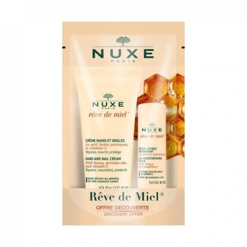 Nuxe Reve De Miel Stick Levres 4g + Cr Mains 30ml