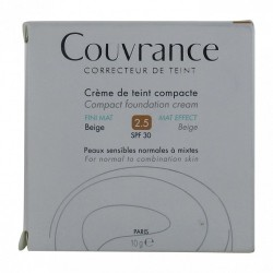 Avene COUVRANCE Compact Fini Mat - N2.5 Beige, 9g