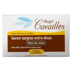 ROGE CAVAILLES Savon surgras Extra doux Fleur de coton, 150g