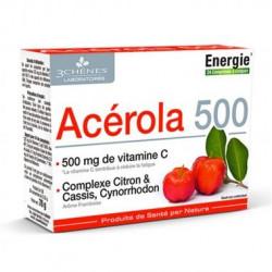 3 CHENES ACEROLA 500, 24 COMPRIMES