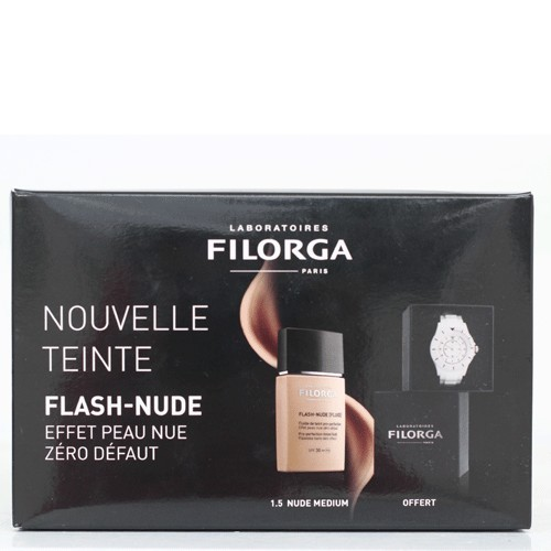 FILORGA COFFRET FLASH-NUDE FLUID TEINT PRO PERFECTION SPF30, (1.5 MEDIUM) 30ml + MONTRE FILORGA OFFERT