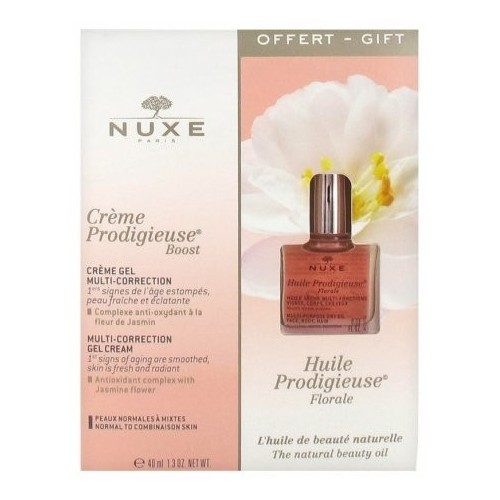 Nuxe Coffret Crème Prodigieuse Boost 40ml PN + Huile Prodigieuse Florale 10ml OFFERTE