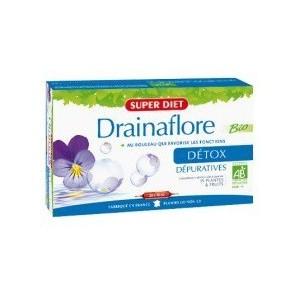SUPERDIET Drainaflore, 20 ampoules de 15 ml