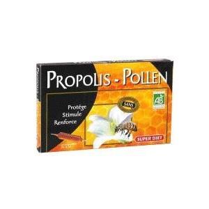 SUPERDIET Propolis Bio et Pollen Bio, 10 ampoules